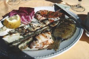 Fish lunch Sorrento