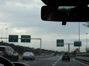 heading towards via Aurelia